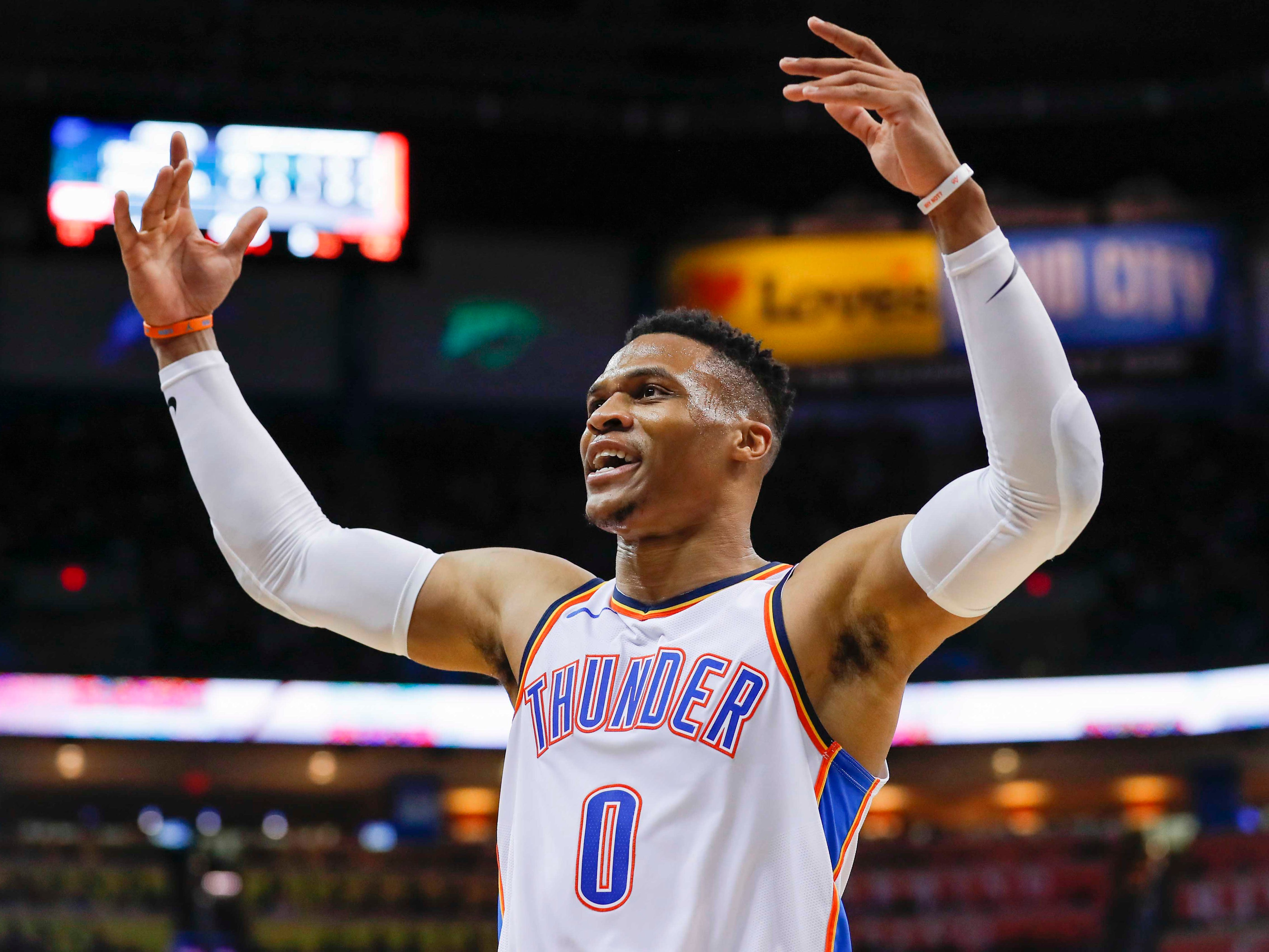 58. Russell Westbrook, Thunder (Jan. 22): 29 points, 14 assists, 10 rebounds in 123-114 win vs. Trail Blazers (14th of season).