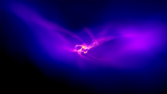A close-up view of the dark matter halo.