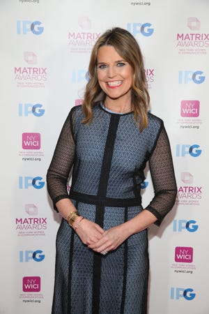 Savannah Guthrie attends the 2018 Matrix Awards on April 23 in New York City.