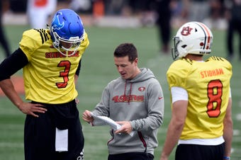 Jori Epstein examines the quarterbacks at the Senior Bowl after the first day of practice, where Buffalo's Tyree Jackson stood above the rest.