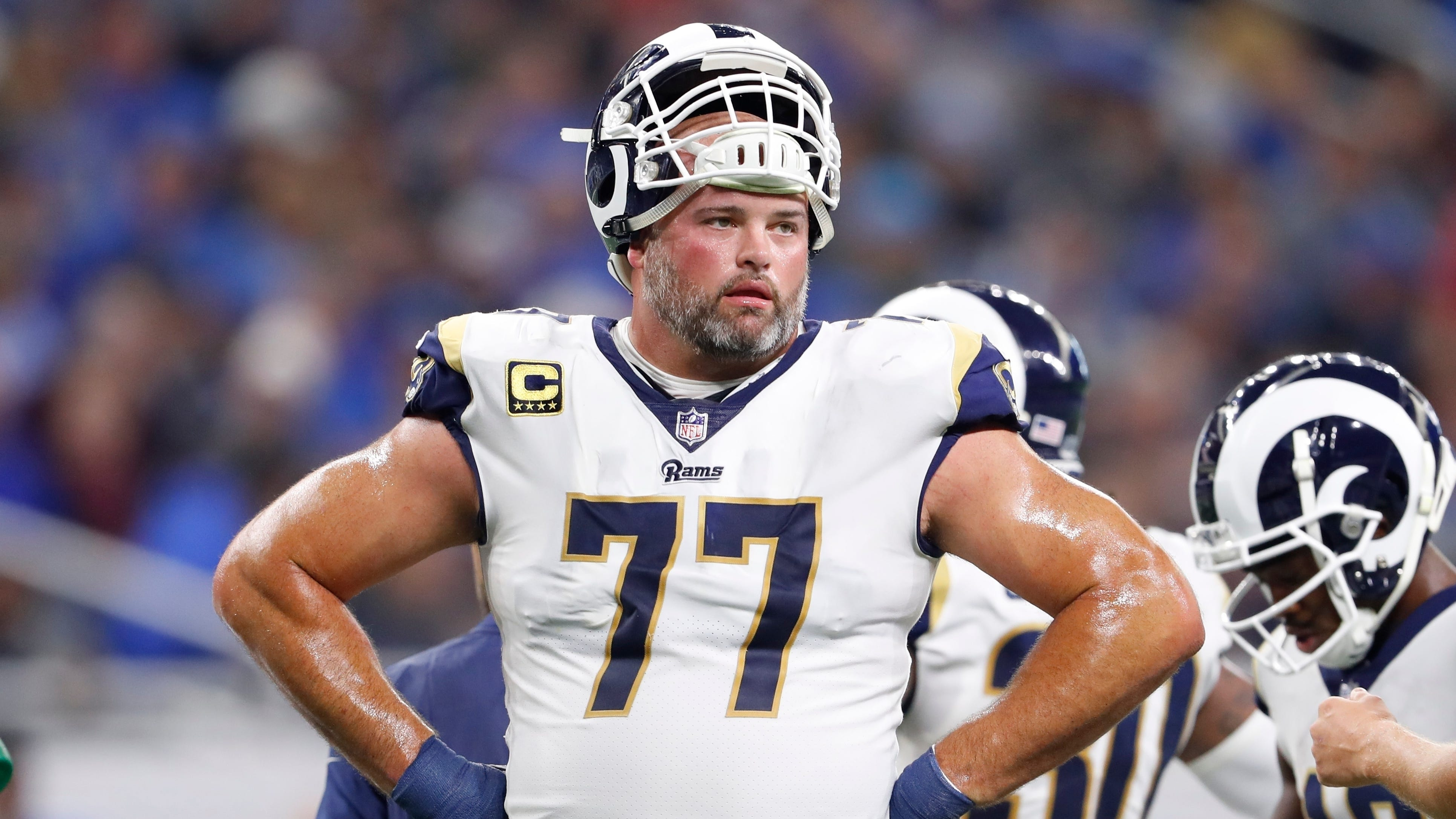 Los Angeles Rams offensive tackle Andrew Whitworth thinks Saints players are spending too much time venting over a controversial no-call...as his team gears up for the Super Bowl.