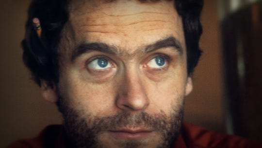 A color photo of Ted Bundy