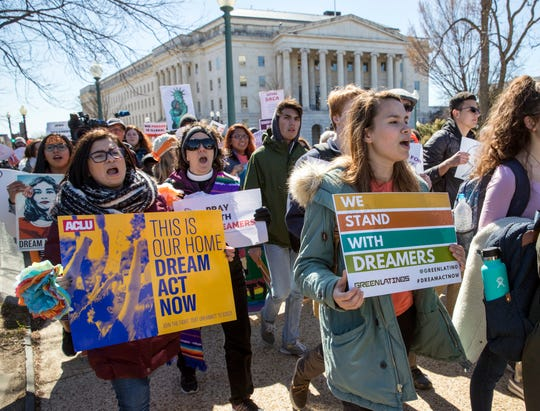The Supreme Court is at the center of the debate over President Trump's effort to end former President Barack Obama's DACA program.