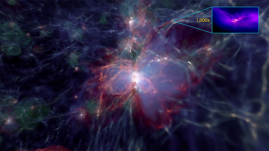 The Light Released From Around The First M Ive Black Holes In The Universe Is So Intense