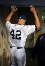 Mariano Rivera jugó toda su carrera con Yankees, y portó el #42 en honor a Jackie Robinson.