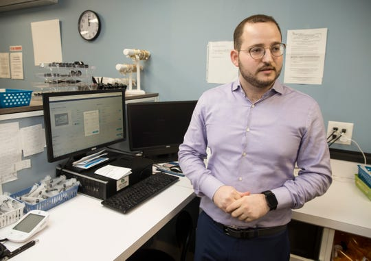 Ezriel Green has founded EzriRx, a Lakewood company that has developed technology making it easier and cheaper for independent pharmacies to buy prescription drugs. Green is shown at River Pharmacy, a small pharmacy that uses EzriRx.      Lakewood, NJThursday, January 24, 2019