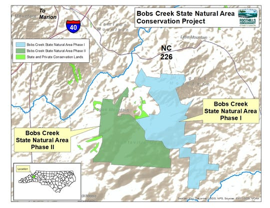 The new Bobs Creek State Natural Area.