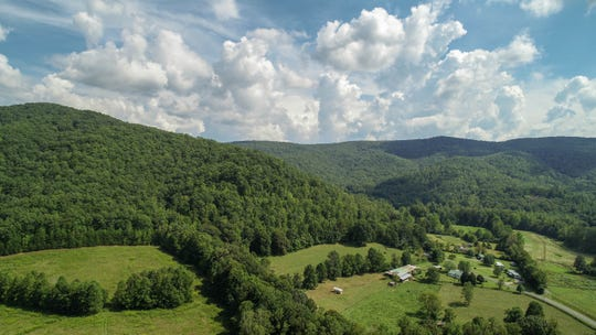 A drone's-eye view of the new Bobs Creek State Natural Area.