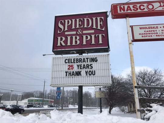 The Spiedie and Rib Pit is located on Upper Front Street.