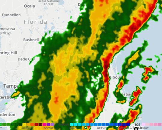 8:30 a.m. radar Jan. 24, 2019