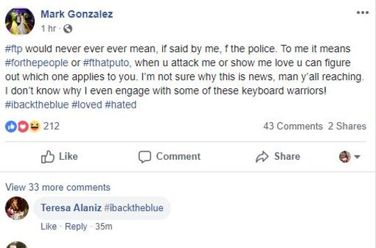 """Nueces County District Attorney Mark Gonzalez defends his use of the hashtag """"ftp"""" on Facebook."""