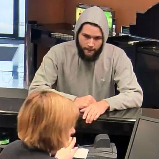 Police allege Logan Troy of Collingswood robbed a bank in Devon, Pa., earlier this month.