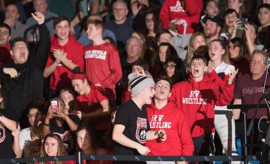 The Rancocas Valley High School wrestling team defeated Northern Burlington, 38-37, at Northern Burlington High School on Wednesday, January 23, 2019.
