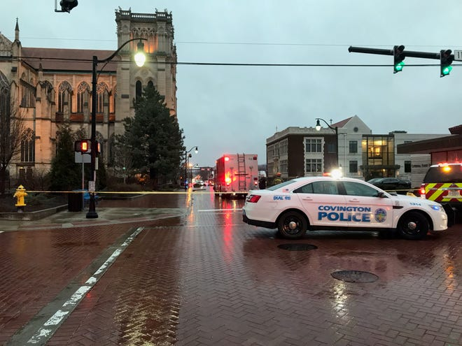 Authorities cleared the Diocese of Covington building of all threats Wednesday evening after receiving a report of a suspicious package a few hours earlier.
