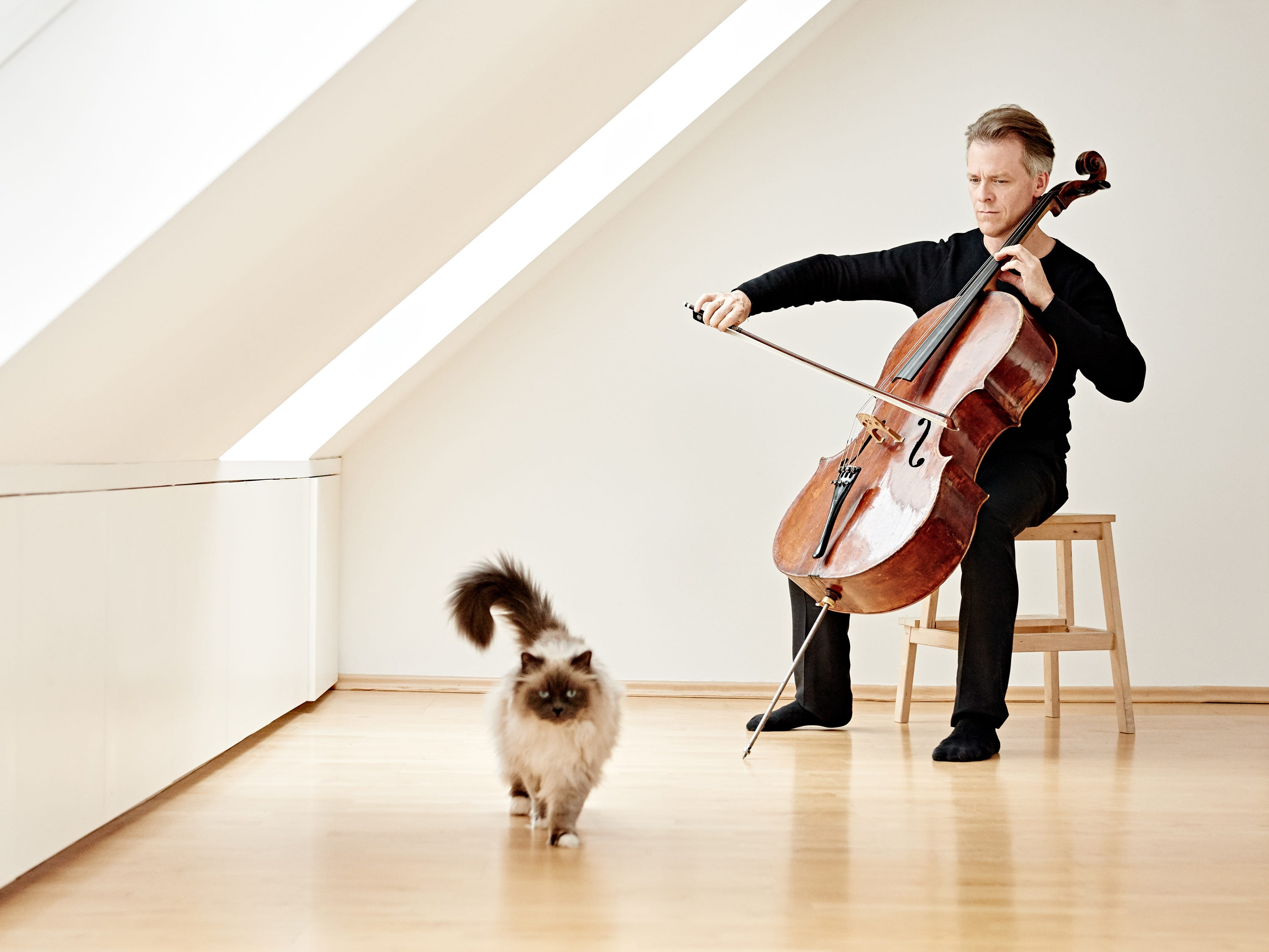 """Alban Gerhardt - Cellist Alban Gerhardt makes his CSO debut performing the Cincinnati premiere of Unsuk Chin's """"Cello Concerto"""" Jan. 24-25, 2020, with Simone Young conducting."""
