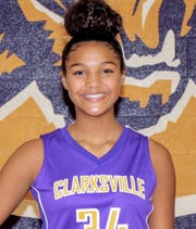 Clarksville High's Mya Collins was named athlete of the week for Jan. 14-19