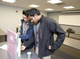 """New Jersey Science Olympiad participants fine-tuned the Rube Goldberg-like devices they built before competition day for """"Mission Possible"""" at NJIT. The idea was to design a machine that performs a simple task in an intentionally complicated manner, here to indirectly raise a battery from the bottom to the top of the device within three minutes. In addition to their time to complete the task, students were evaluated on the use of levers and pulleys and other movement mechanisms in their device. The machine created by these Montvale High School students did the job in 42 seconds."""