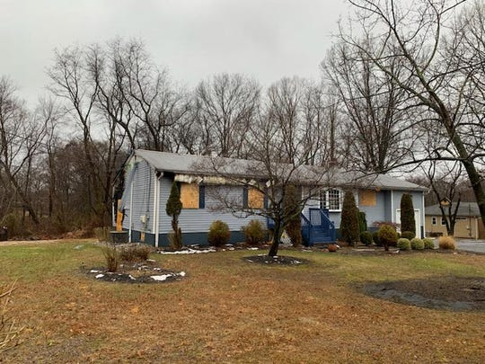 A Fresh Ponds Road home in South Brunswick was heavily damaged Wednesday by a two-alarm fire.