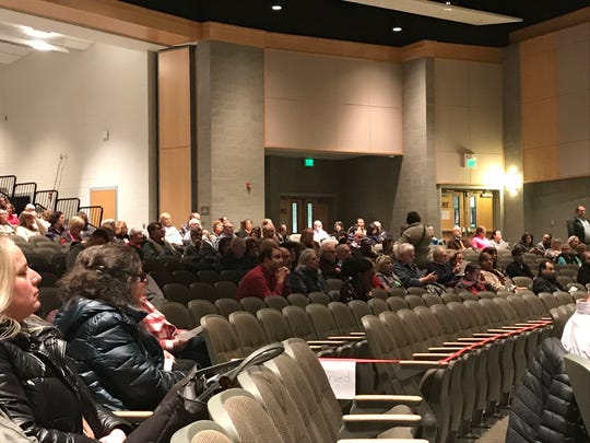 Residents from East Brunswick and surrounding communities attended an East Brunswick Planning Board hearing for a controversial application for proposed mixed use project on Summerhill and Old Stage Roads.