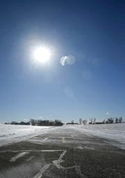 Strong wind gusts caused drifting along county and state roads on Thursday, Jan. 24, 2019, in parts of central Iowa.