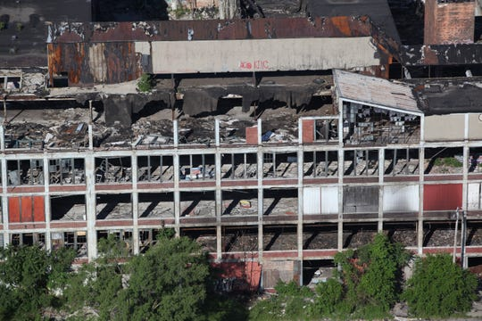 Aerial View of the Packard Plant in Detroit on Thursday June 14, 2012.