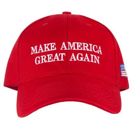 The White House Gift Shop sells this red Make America Great Again baseball cap for $37.95.