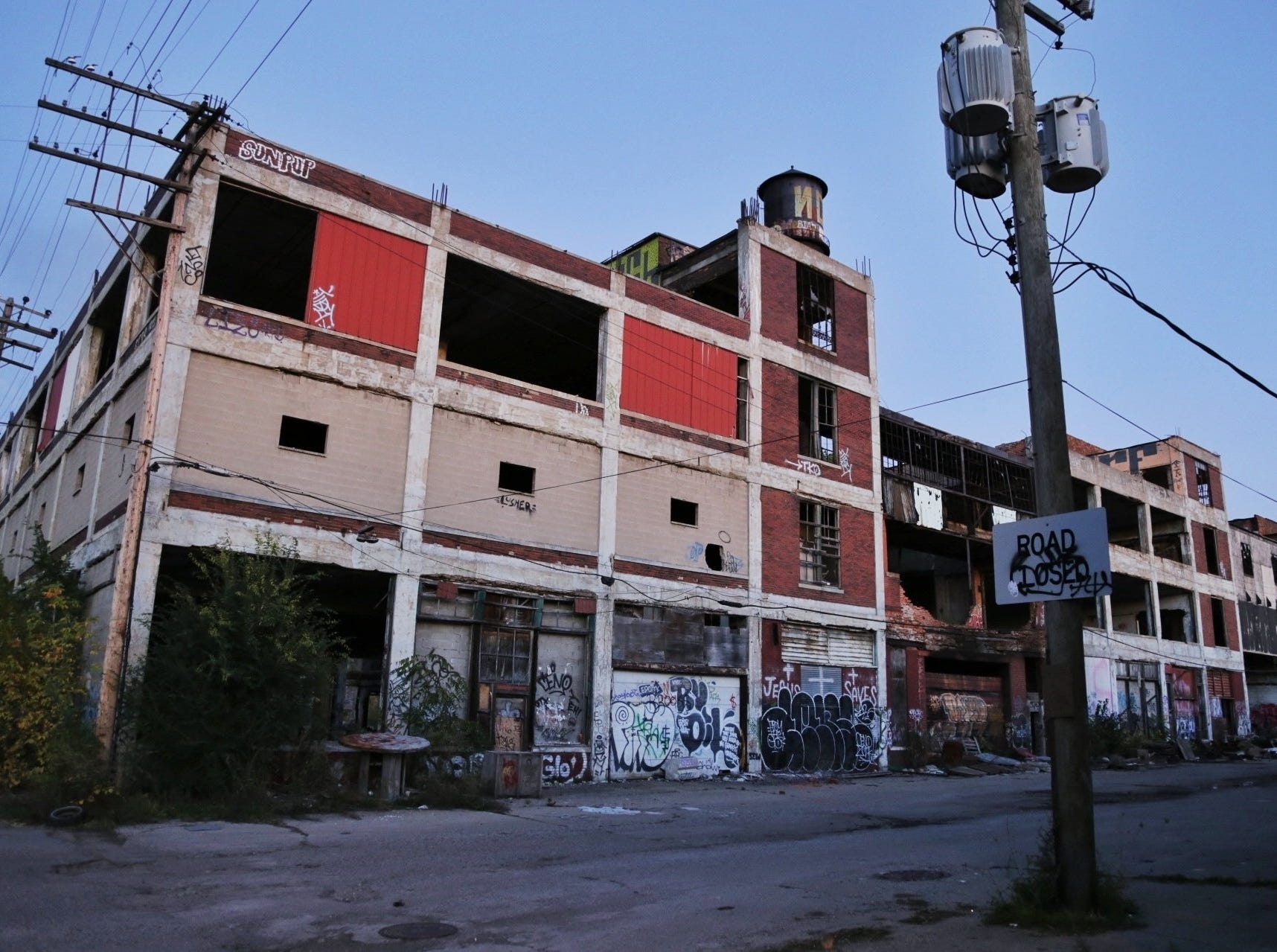 A section of the Packard Plant is seen on Friday October 25, 2013.