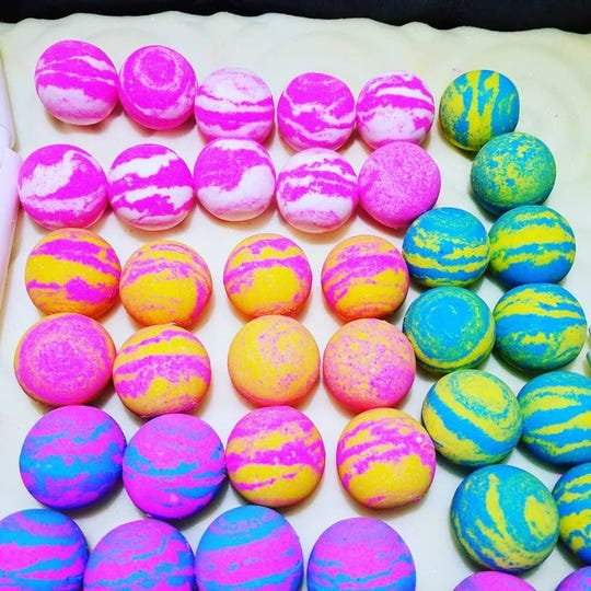 Tracy Thomas is opening the Artisan Shoppe in Berkley, where she will sell homemade bath and soap products, like these bath bombs, and feature other vendors.