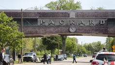 A view of a section of the Packard Plant in Detroit is seen on Tuesday May 16, 2017.