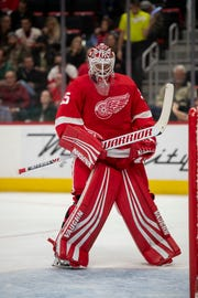 """Jeff Blashill on Jimmy Howard: """"I'd say Jimmy is being rewarded for the work he's put in over the last three and a half years."""""""