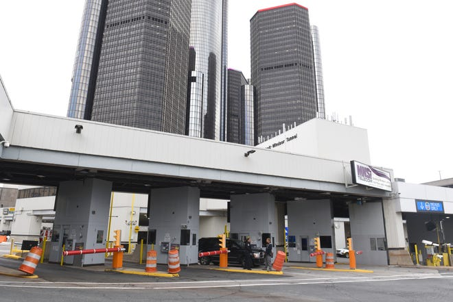 The tunnel, between Detroit and Windsor, is expected to close overnight on seven occasions through the end of April due to a renovation project.