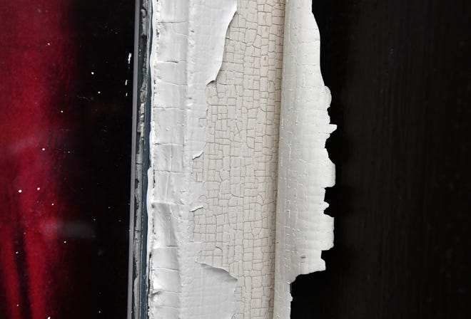Inspectors use a sensor that checks for lead in paint, through multiple layers, around windows and doors.