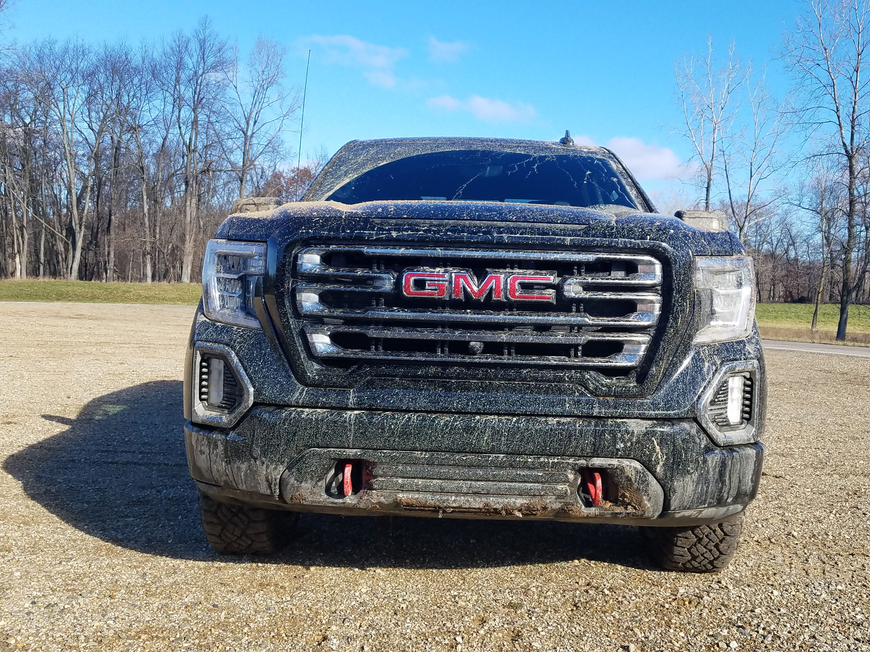 The GMC Sierra AT4 brings the brand's typically attractive grille and LED light design, making it one of the most handsome trucks in the segment.