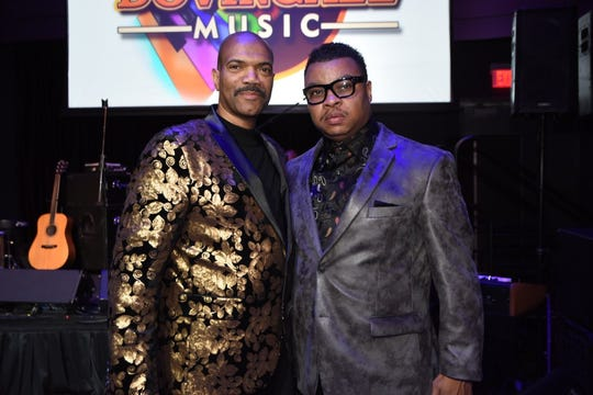 From left, Alonzo Dover and Mike Mindingall launch Dovingall Music LLC at Club Amnesia