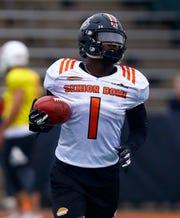 Receiver Deebo Samuel caught 11 touchdowns as a senior at South Carolina