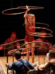 Santé Fortunato performs during Cirque du Soleil's Corteo.