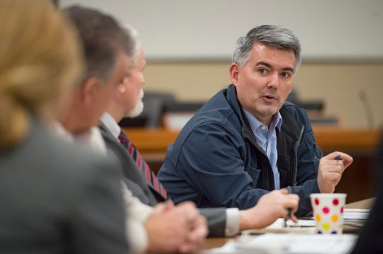 U.S. Sen. Cory Gardner is pictured in Northern Colorado in January.