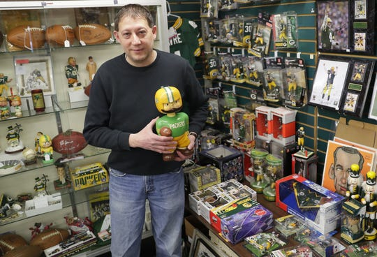 Mike Worachek has operated Card & Coin/Packer City Antiques at 1920 Marlee Lane, Ashwaubenon, Wis., for 26 years. He will move to South Ridge Road in July because his current store will be razed for new construction.