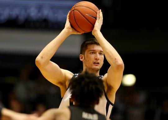 Butler forward Nate Fowler is averaging 5.0 points and 4.0 rebounds a game this season.