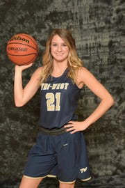 Maggie Cora averages 23 points per game for Tri-West.