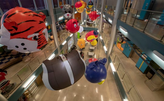 Inside the Mascot Hall of Fame in Whiting, Ind., Thursday, Jan. 3, 2019. The city, in the extreme northwest corner of the state, already enjoys an annual visitor influx in late July due to the city's Pierogi Festival.