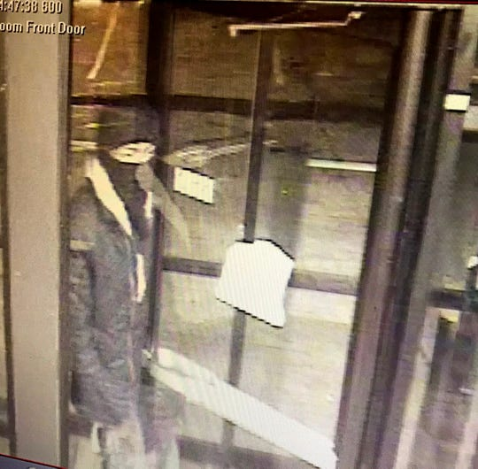 This is a surveillance image from the Waffle House on McDowell Road in Jackson, Miss.
