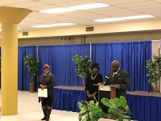 Marshall Brooks city council announcement at T.R. White Sportsplex in Jackson, Tenn, January 24, 2019.