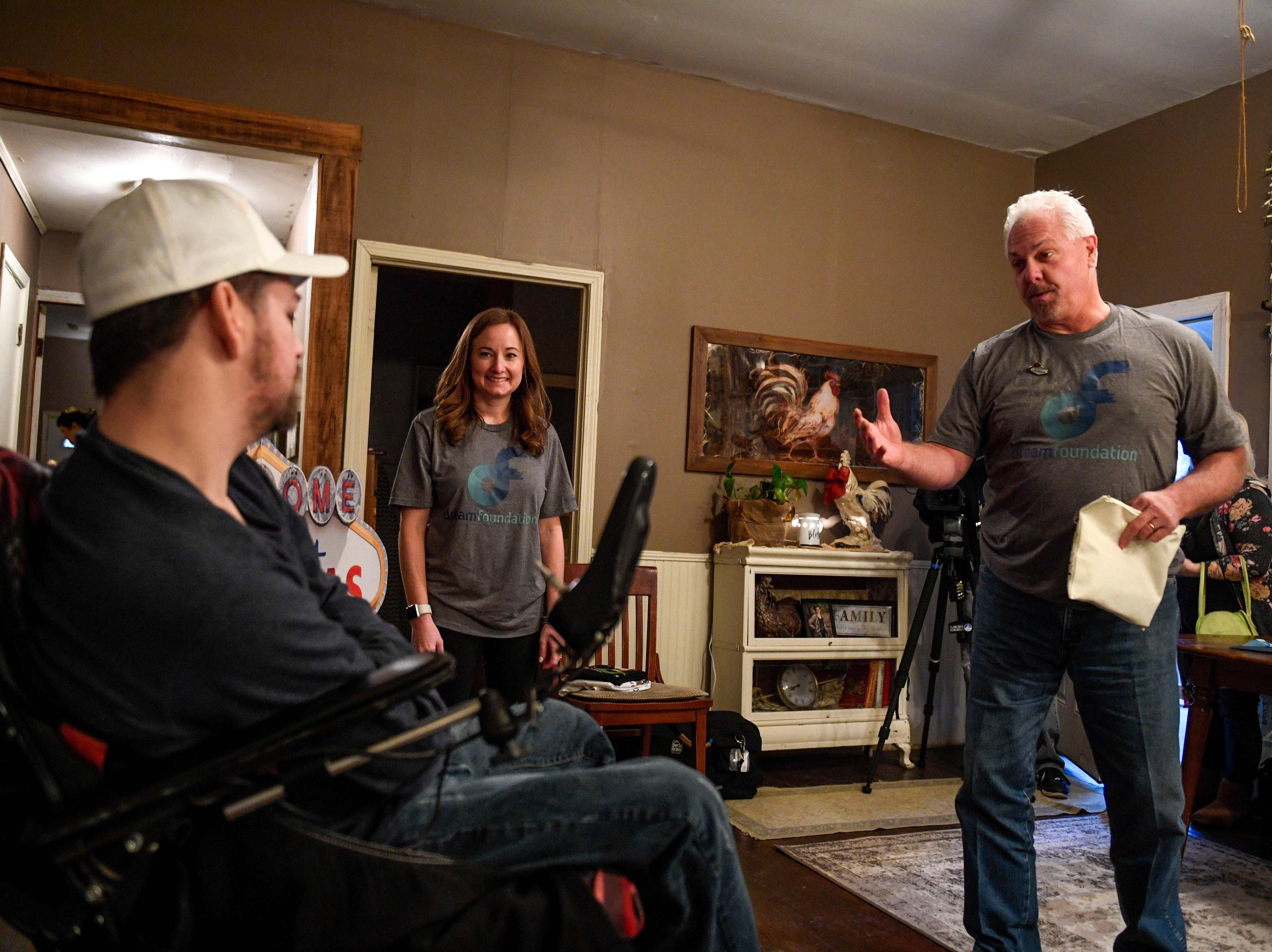 Chuk Lamberth describes Zachary Butler's trip to Vegas to him at Butler's home in Trezevant, Tenn., on Wednesday, Jan. 23, 2019.