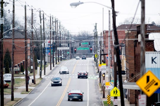 A view looking east along Sevier Avenue in Knoxville, Tennessee on Thursday, January 24, 2019.