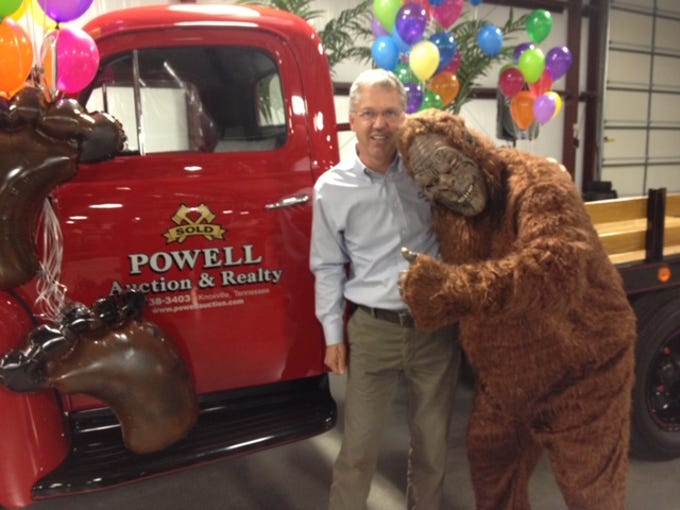 """In 2012, the cast of the Animal Planet television show """"Finding Bigfoot"""" visited the Knoxville area, and more than 5,000 fans – including Kenny Phillips – came out for the event at Powell Auction & Realty."""