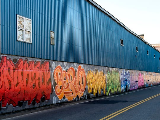 Murals painted on the Norco Metal Finishing building along Island Home Avenue in South Knoxville on Tuesday, January 22, 2019.
