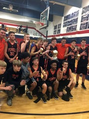 Powell Middle School's boys basketball team won the Knox County Tournament.