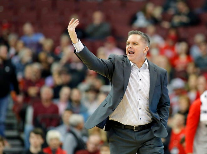 Jan 23, 2019; Columbus, OH, USA; Ohio State Buckeyes head coach Chris Holtmann during the first half against the Purdue Boilermakers at Value City Arena. Mandatory Credit: Joe Maiorana-USA TODAY Sports