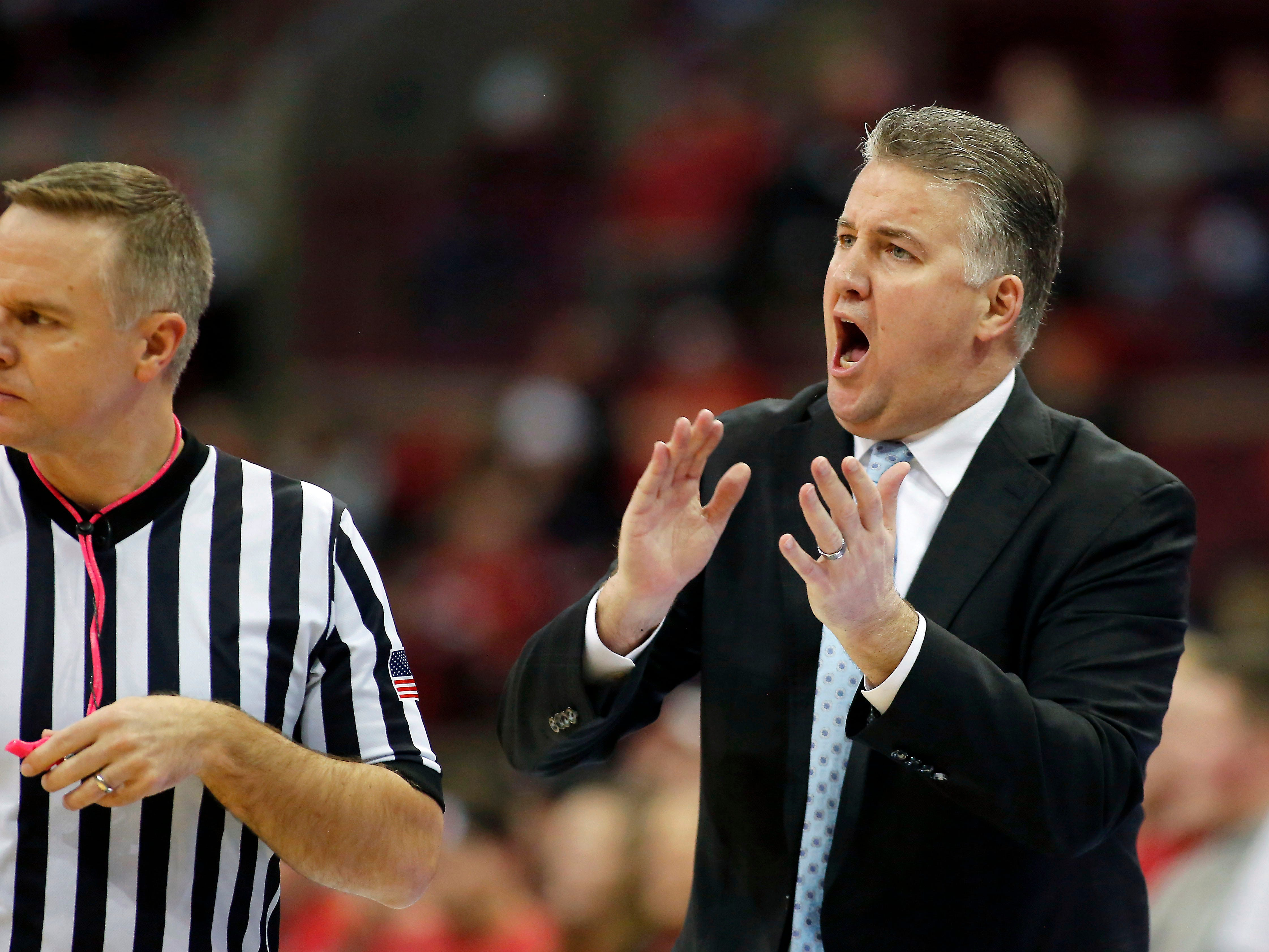 Purdue coach Matt Painter during the first half against Ohio State at Value City Arena.